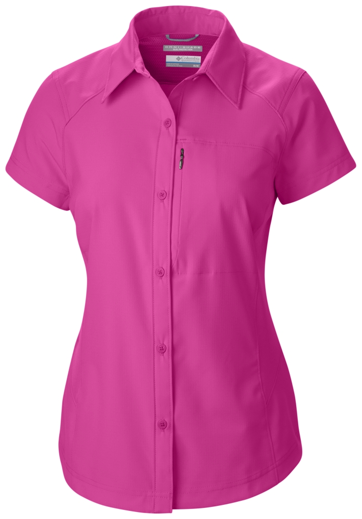 Columbia Silver Ridge Short Sleeve Shirt Bright Geranium-30