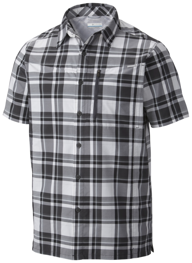 Columbia Silver Ridge Plaid Short Sleeve Shirt Shark Plaid-30