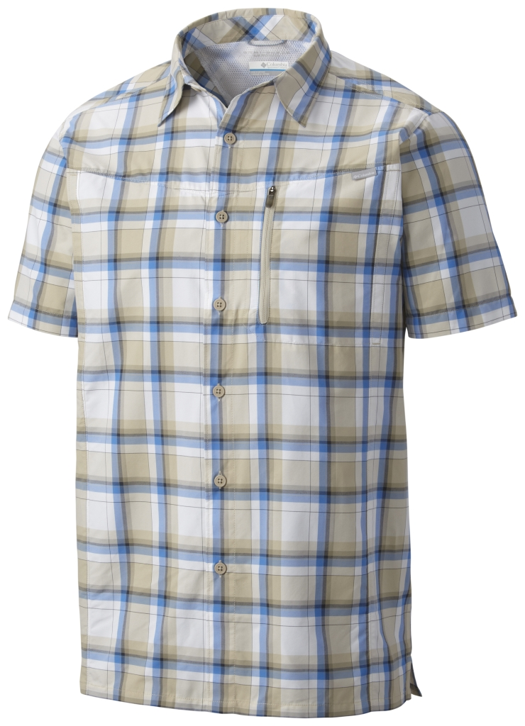 Columbia Silver Ridge Plaid Short Sleeve Shirt Fossil Plaid-30