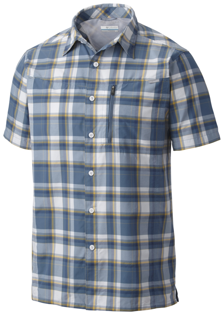 Columbia Silver Ridge Plaid Short Sleeve Shirt Steel Plaid-30