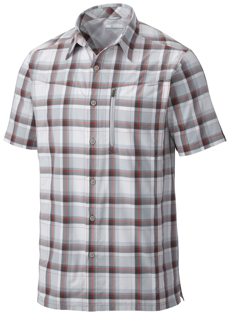 Columbia Silver Ridge Plaid Short Sleeve Shirt Super Sonic Plaid-30