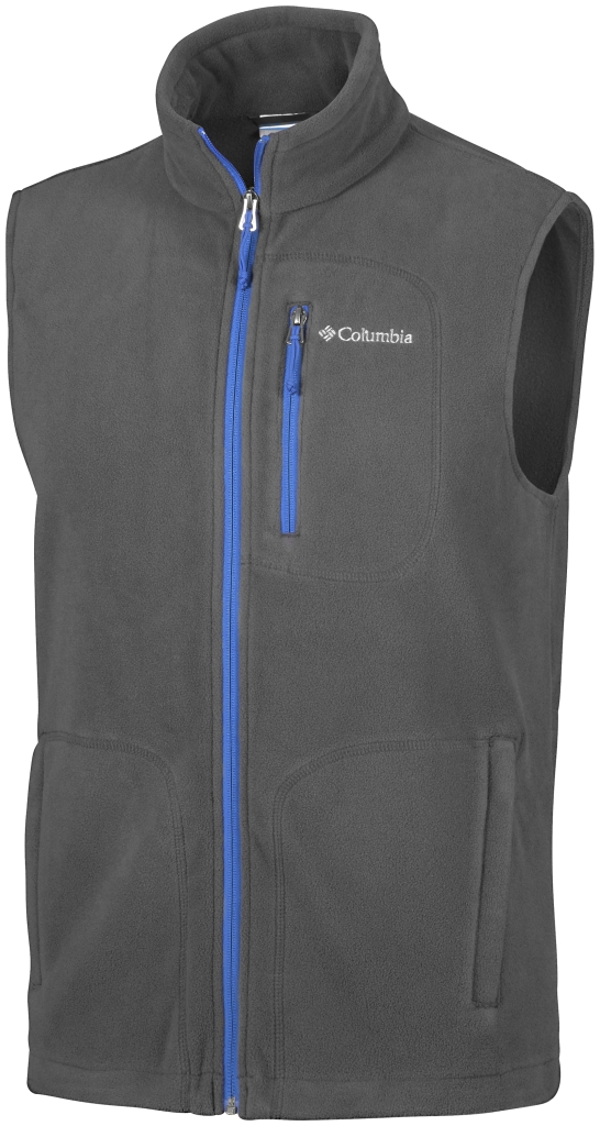 Columbia Fast Trek Fleece Vest Shark, Super Blue-30
