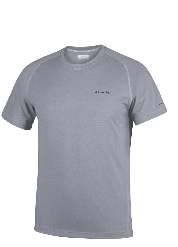 Columbia Mountain Tech III Short Sleeve Crew Grey Ash-30