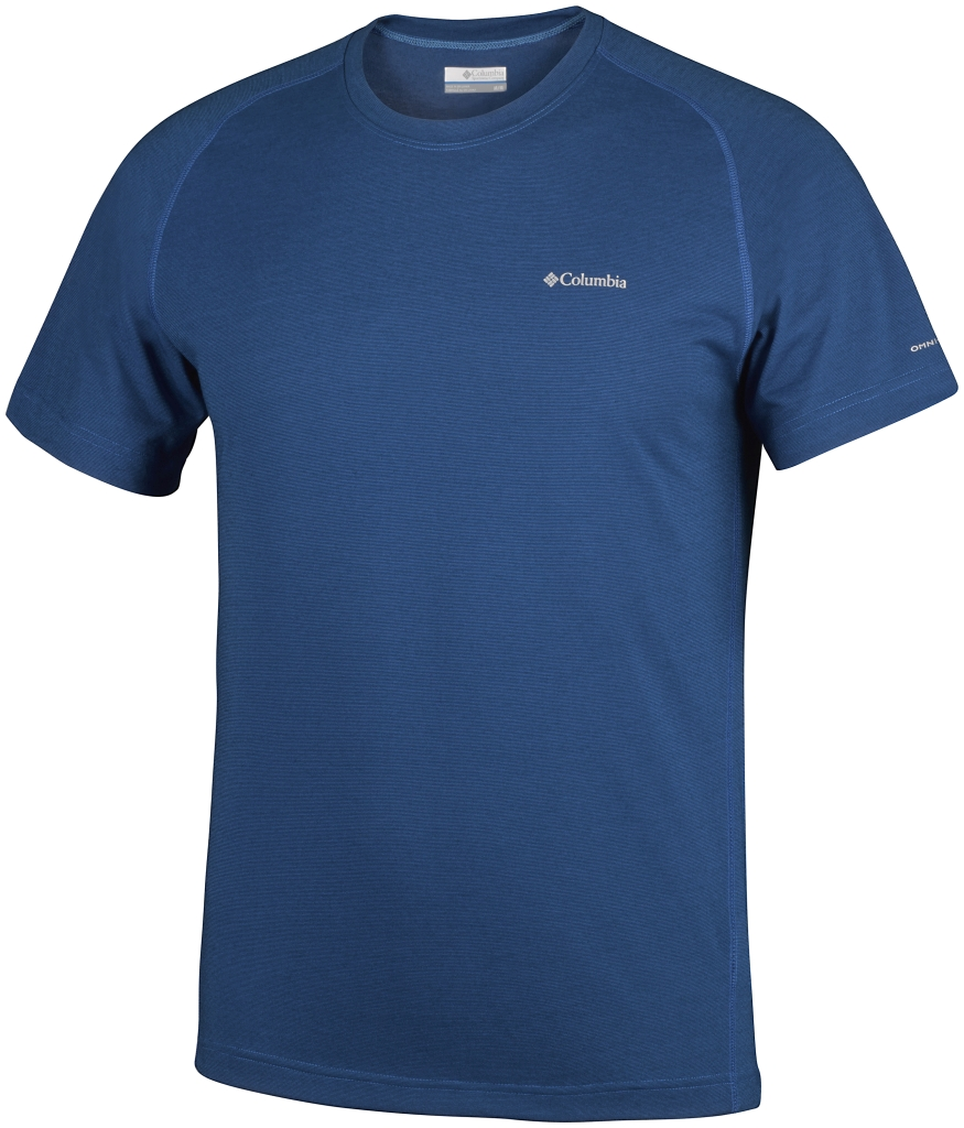 Columbia Mountain Tech III Short Sleeve Crew Super Blue-30