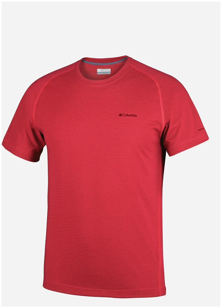 Columbia Mountain Tech III Short Sleeve Crew Super Sonic-30