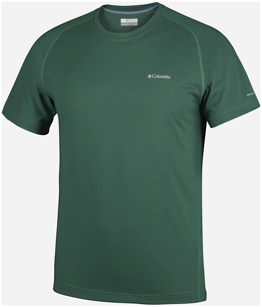 Columbia Mountain Tech III Short Sleeve Crew Pine Green-30