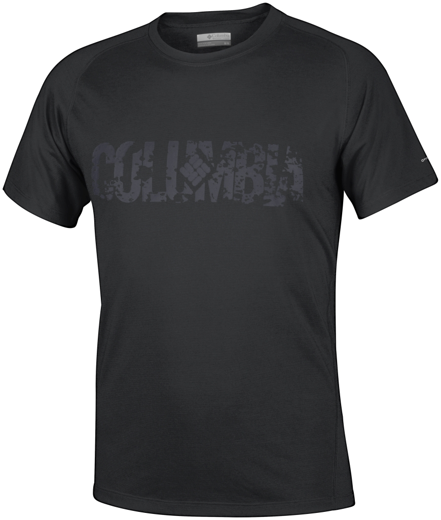 Columbia Mountain Tech Logo S/S Crew Black CSC Graphic-30