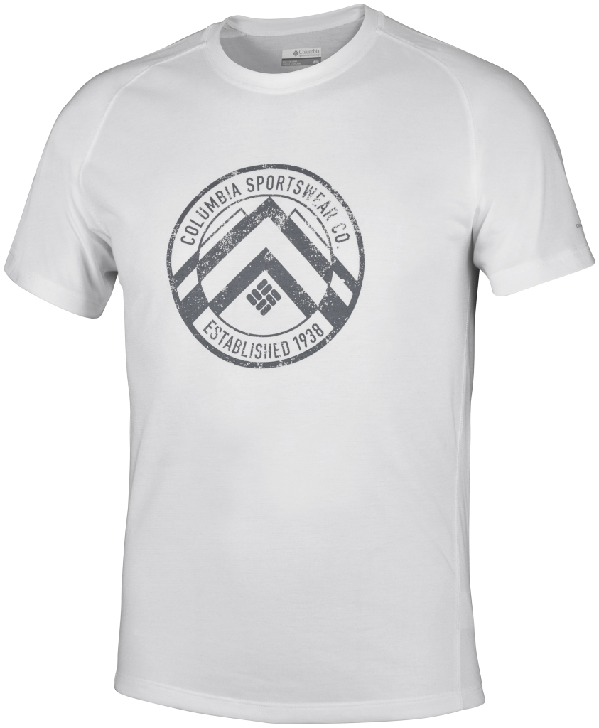 Columbia Mountain Tech Logo S/S Crew White Evertech Graphic-30