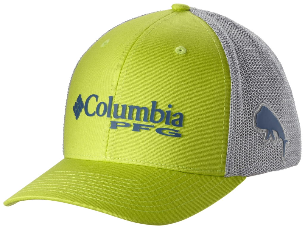 Columbia Pfg Mesh Ball Cap Napa Green, Cool Grey, Dorado-30