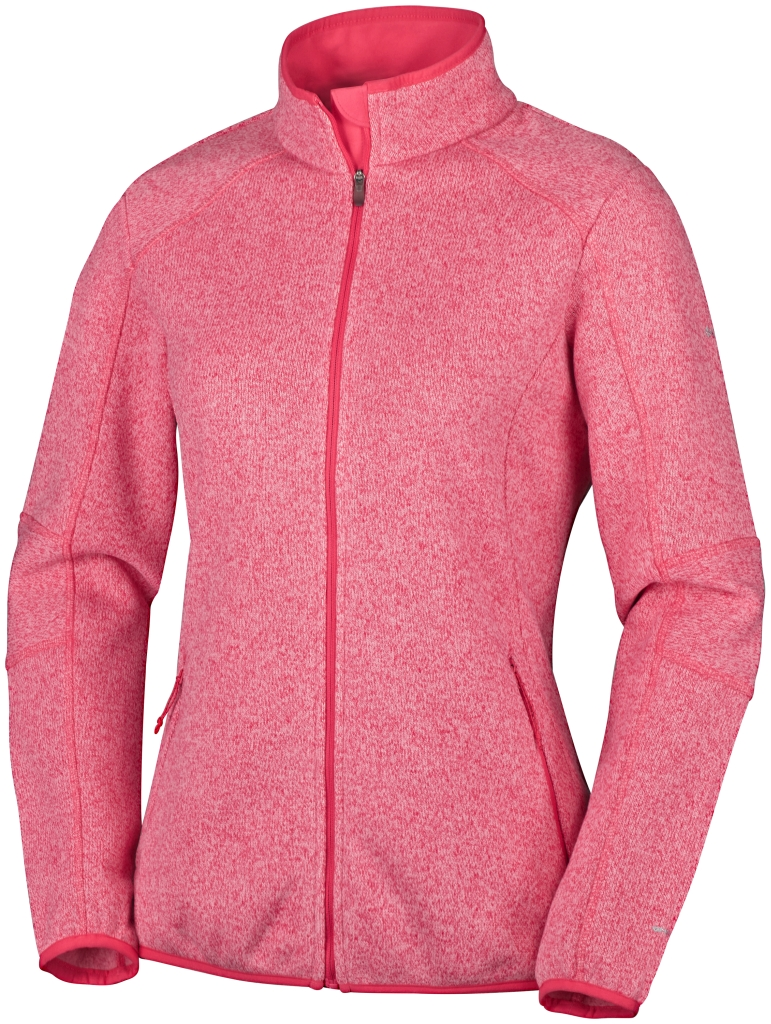 Columbia Altitude Aspect II Full Zip Bright Geranium Heather-30