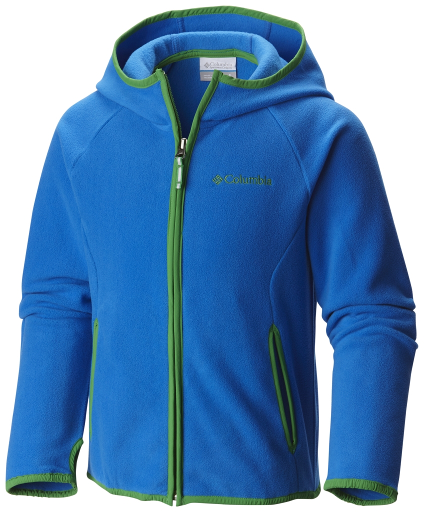 Columbia Fast Trek Hoodie Super Blue, Fuse Green-30