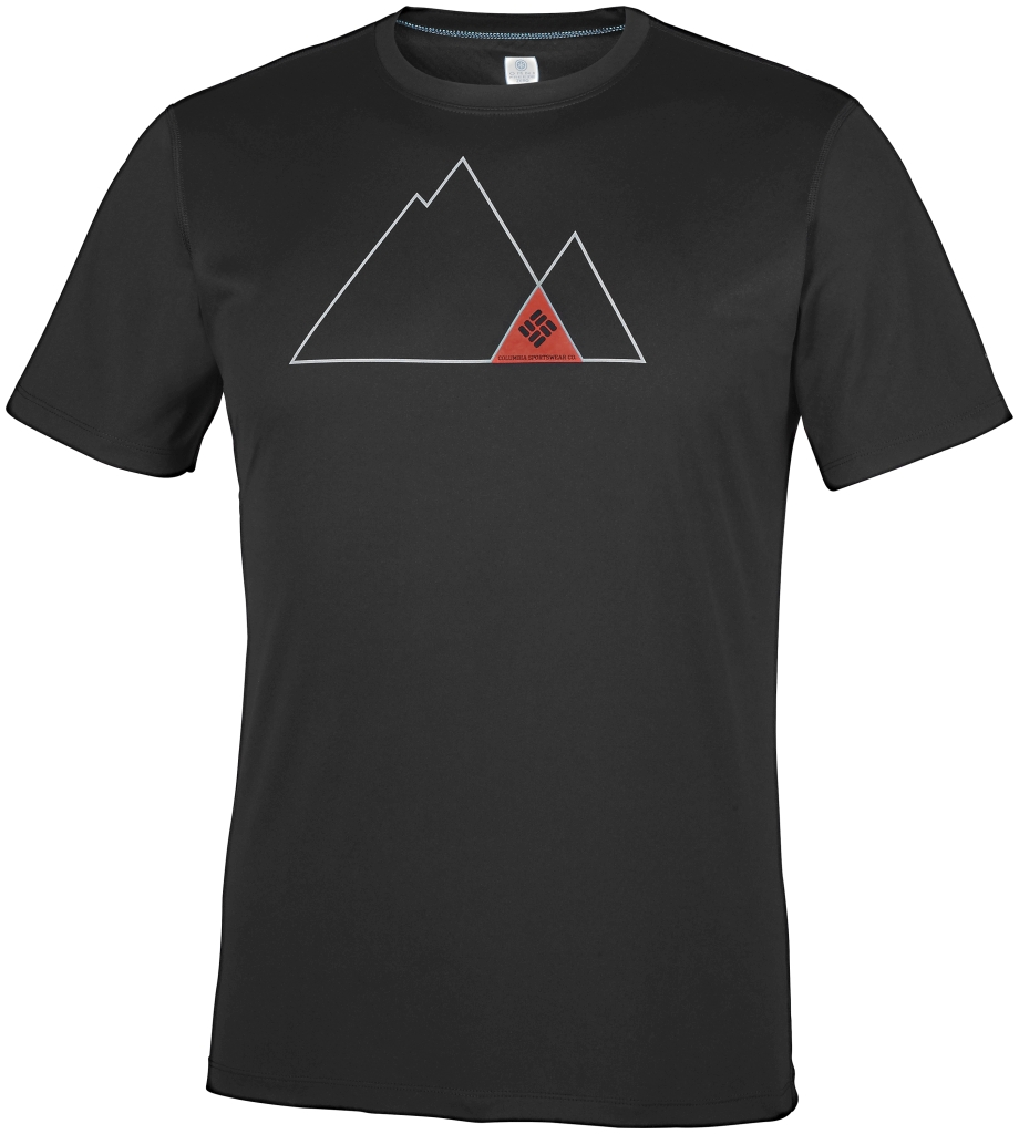 Columbia Zero Rules Short Sleeve Graphic Shirt Black, Triangle-30