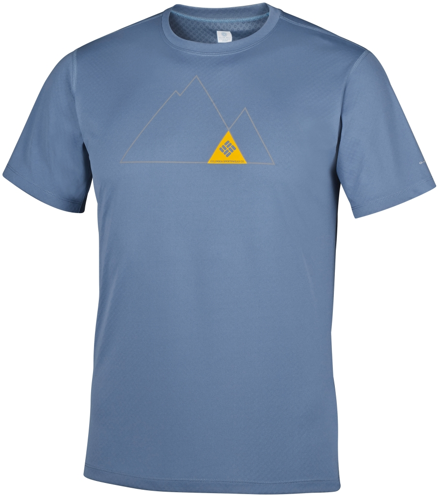 Columbia Zero Rules Short Sleeve Graphic Shirt Steel, Triangle-30