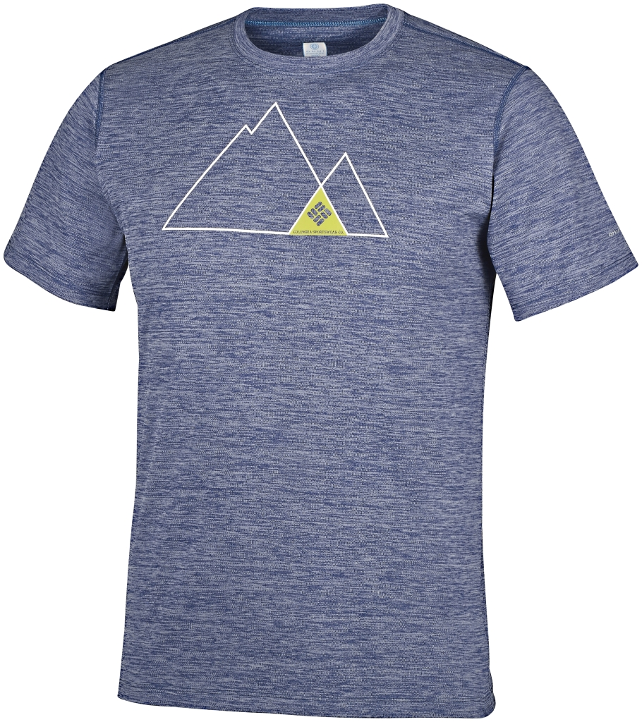Columbia Zero Rules Short Sleeve Graphic Shirt Carbon Heather, Triangle-30