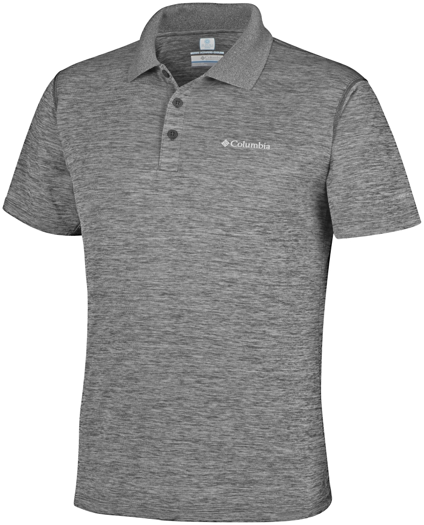 Columbia Zero Rules Polo Shirt Shark Heather-30