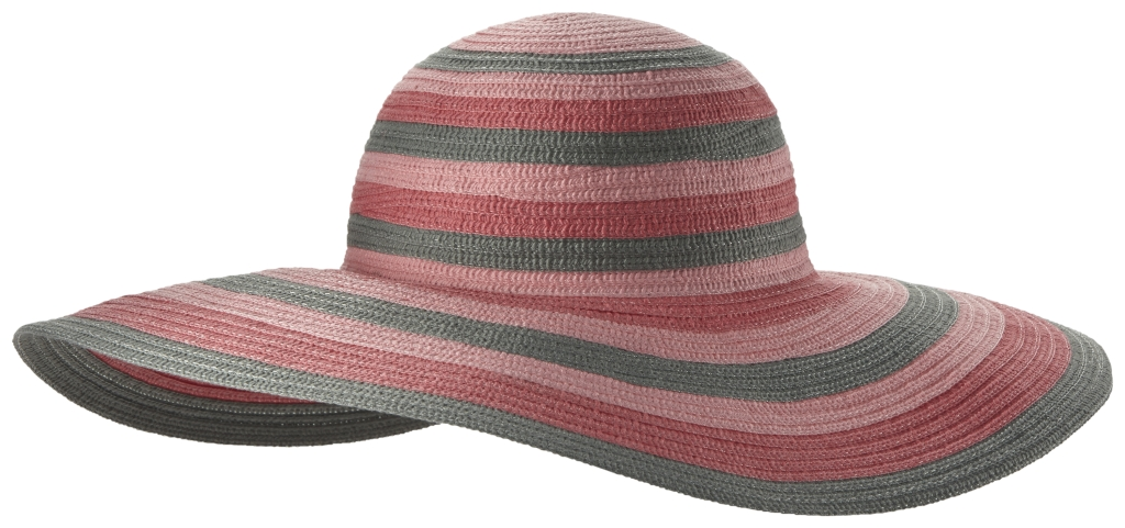 Columbia Sun Ridge II Women's Hat Bright Geranium Stripe-30