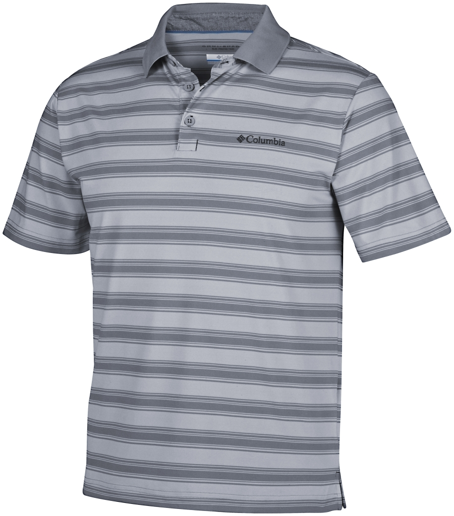 Columbia Big Smoke II Stripe Polo Shirt Cirrus Grey-30
