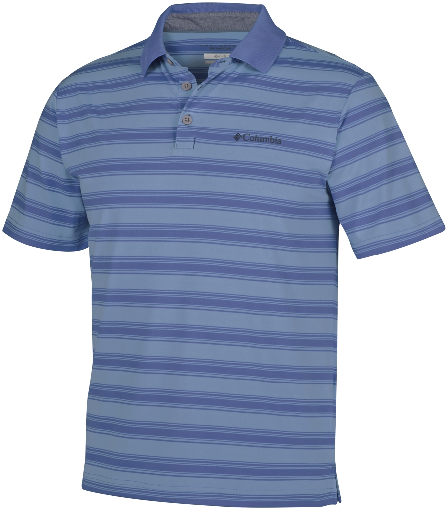 Columbia Big Smoke II Stripe Polo Shirt Steel-30