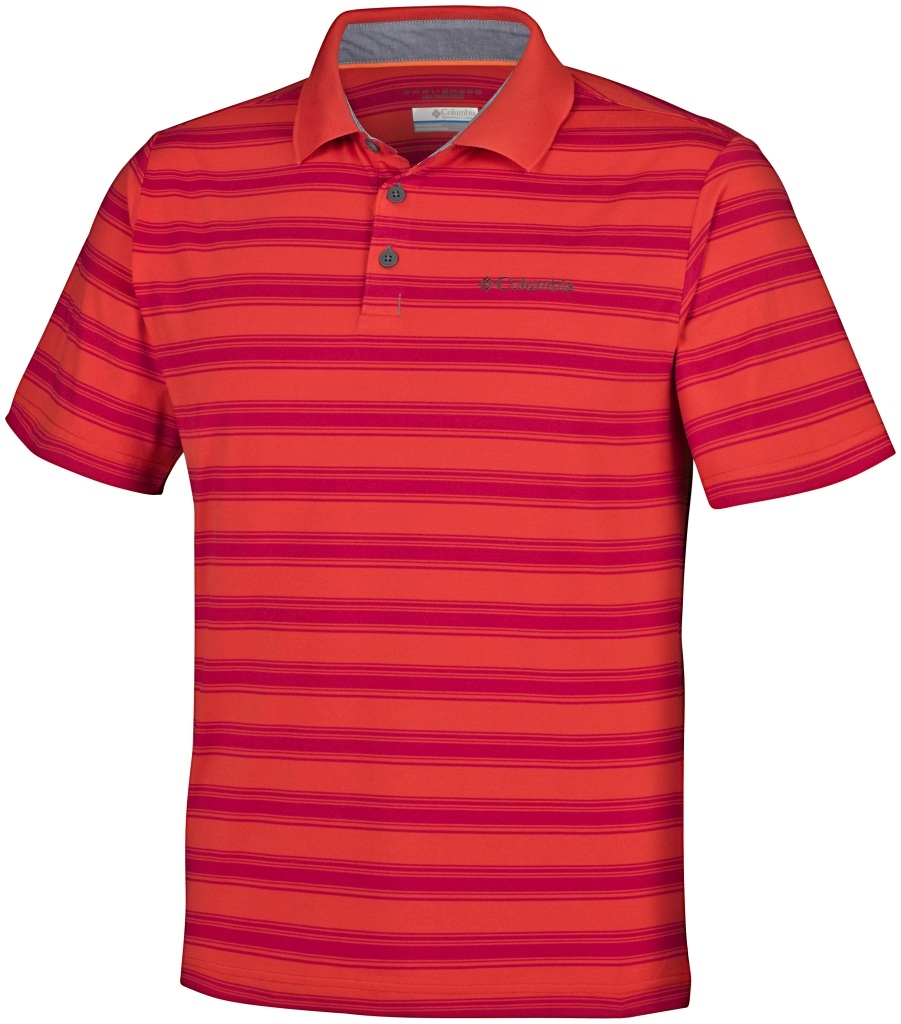 Columbia Big Smoke II Stripe Polo Shirt Super Sonic-30