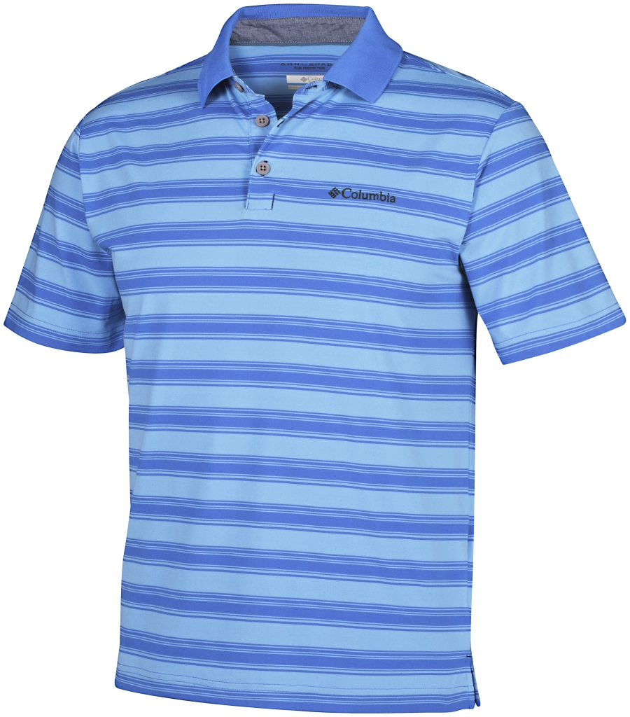 Columbia Big Smoke II Stripe Polo Shirt Pacific Blue-30