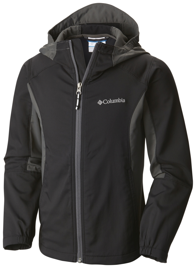 Columbia Splashflash II Hooded Softshell Jacket Black, Grill-30
