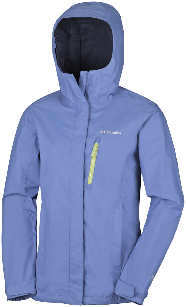 Columbia Pouring Adventure Jacket Bluebell, Neon Light Zip-30