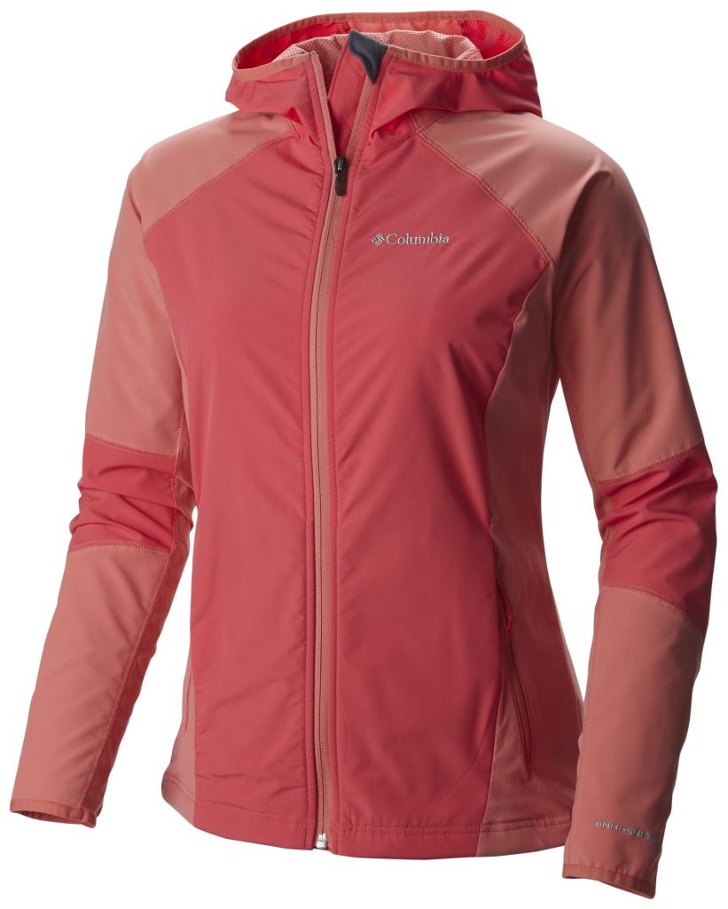 Columbia Sweet As Softshell Hoodie Bright Geranium-30
