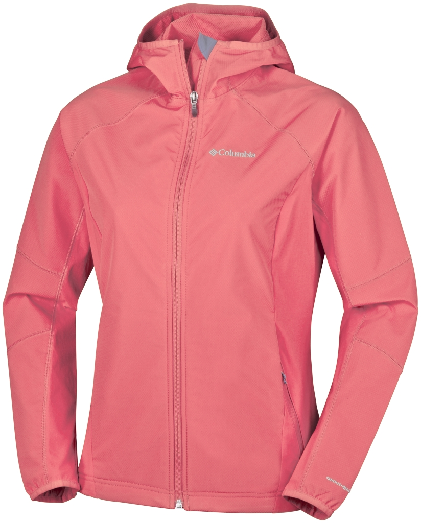 Columbia Sweet As Softshell Hoodie Coral Bloom-30