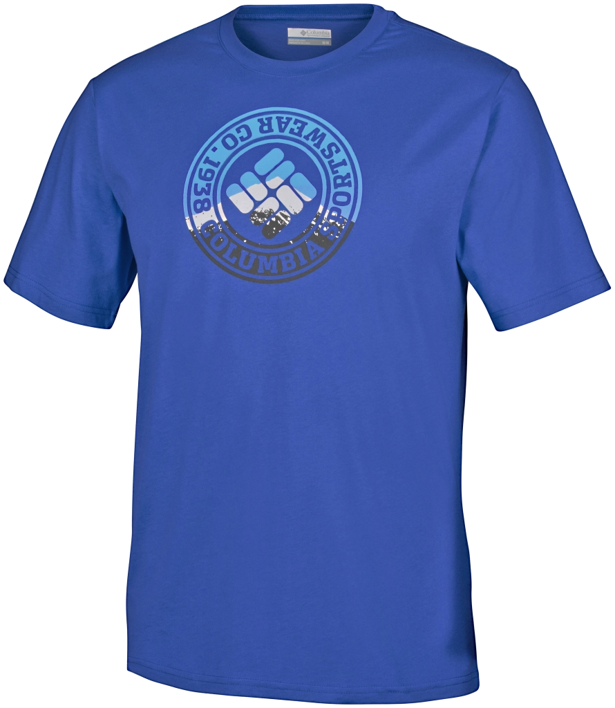 Columbia Csc Tried And True Short Sleeve Tee Super Blue-30