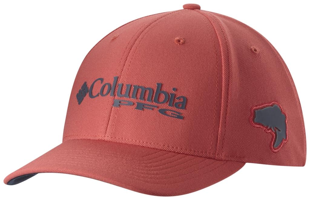 Columbia Pfg Mesh Pique Ballcap Sunset Red, Bass-30