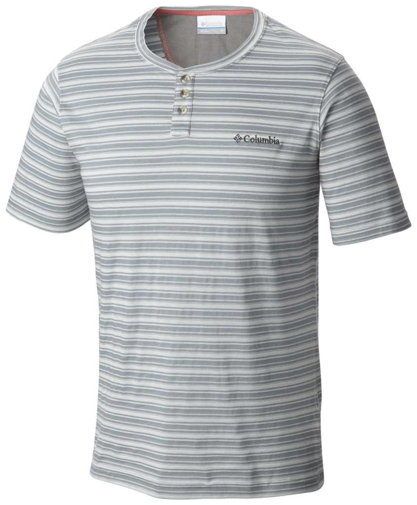 Columbia Lookout Point Short Sleeve Henley Grey Ash-30
