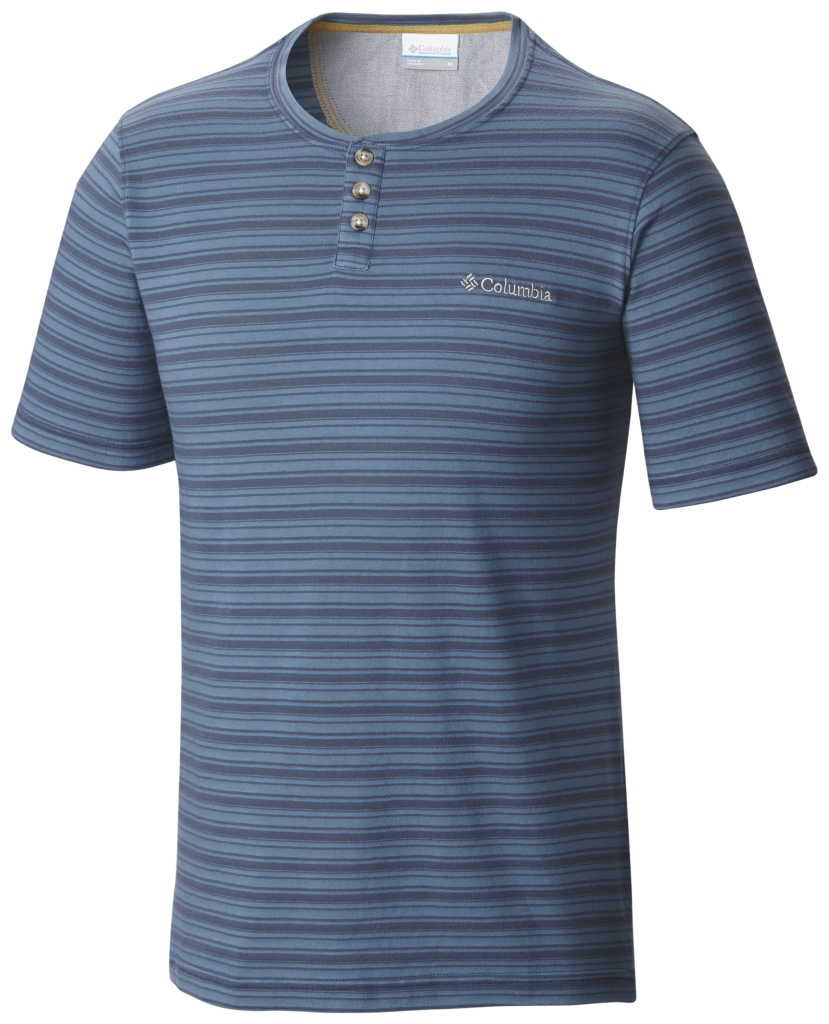 Columbia Lookout Point Short Sleeve Henley Night Tide-30