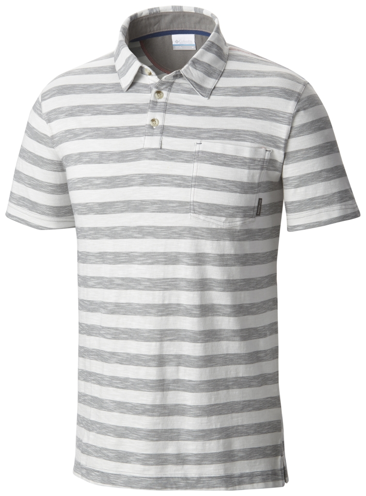Columbia Lookout Point Polo Grey Ash Stripe-30
