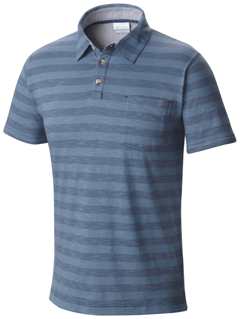 Columbia Lookout Point Polo Night Tide Stripe-30
