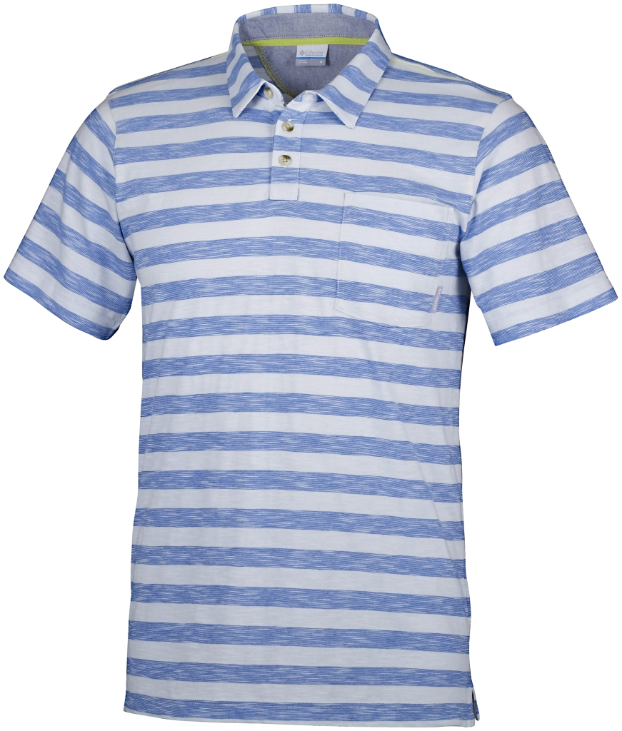 Columbia Lookout Point Polo Pacific Blue Stripe-30