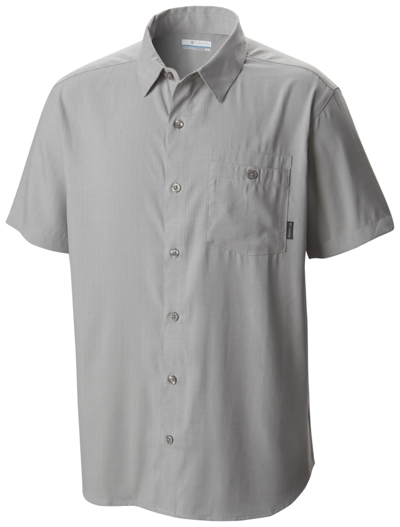 Columbia Mossy Trail Short Sleeve Shirt Columbia Grey Slub-30