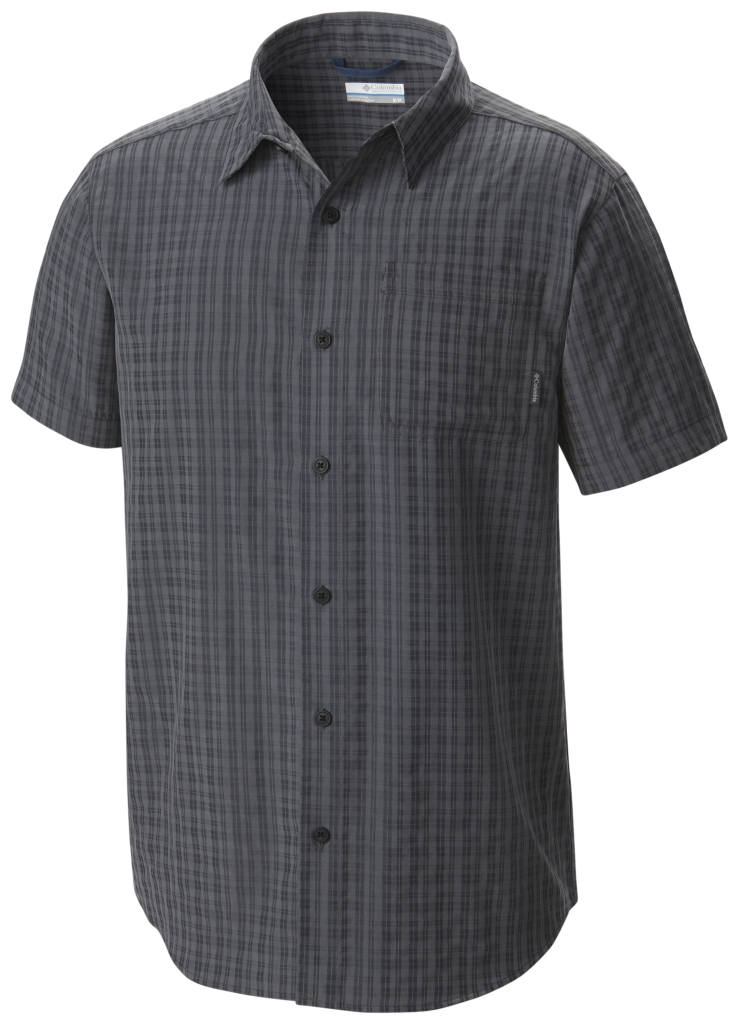 Columbia EndleSS Trail II Short Sleeve Shirt Graphite Plaid-30