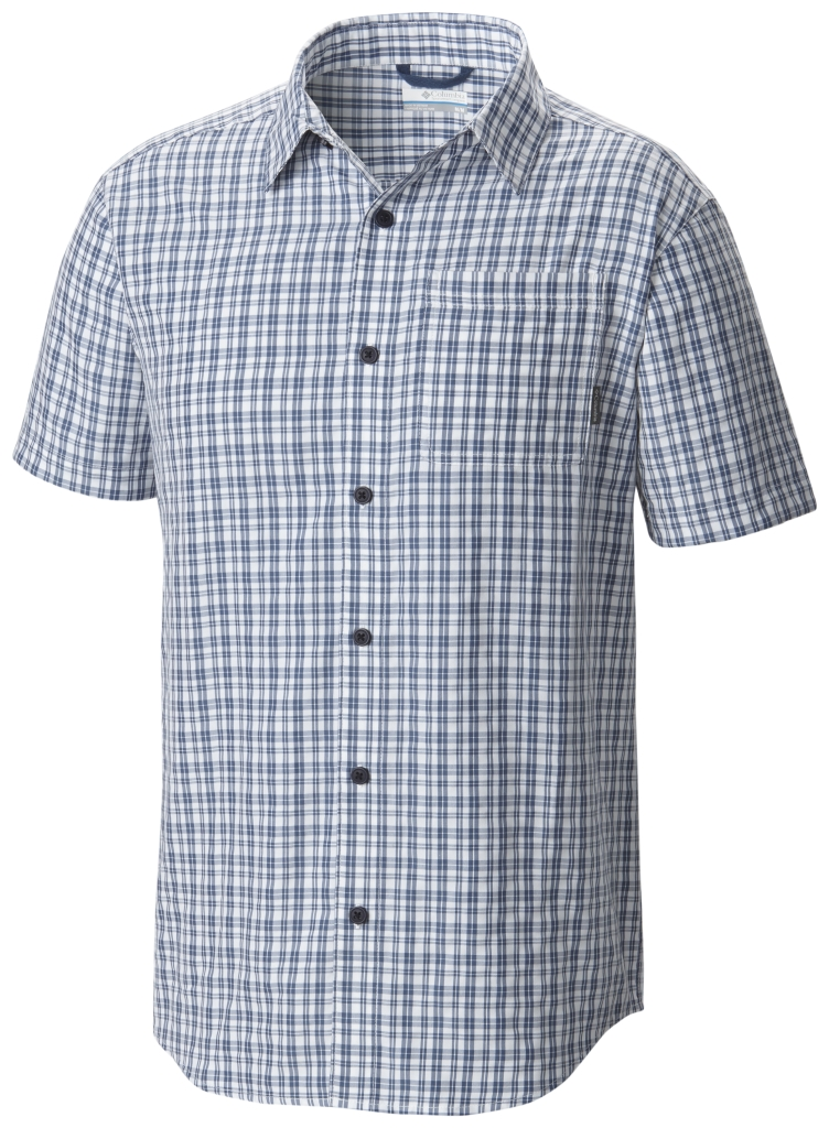 Columbia EndleSS Trail II Short Sleeve Shirt Night Tide Plaid-30