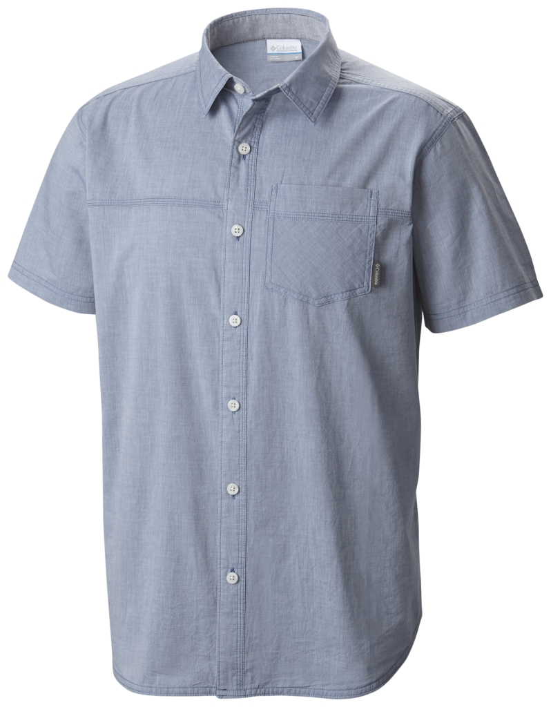 Columbia Campside Crest Short Sleeve Shirt Night Tide-30