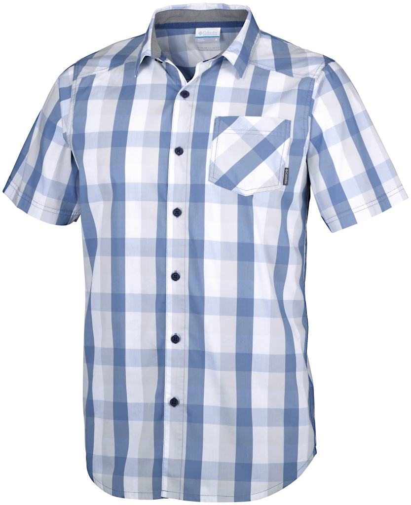 Columbia Decoy Rock II Short Sleeve Shirt Cirrus Grey Plaid-30