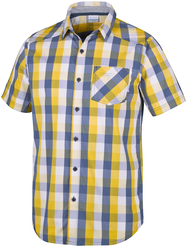 Columbia Decoy Rock II Short Sleeve Shirt Dijon Plaid-30