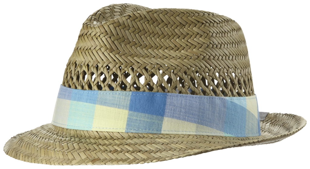 Columbia Sun Drifter Straw Hat Natural, Stormy Blue Plaid-30