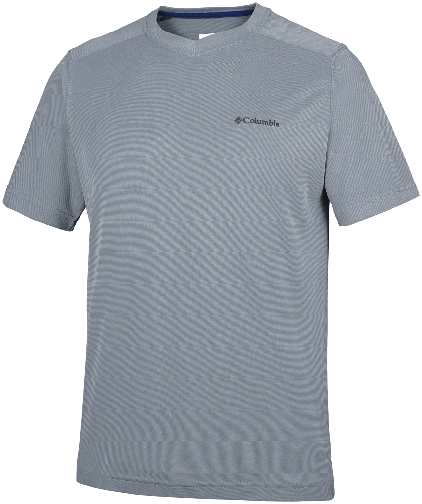 Columbia Sun Ridge Novelty Short Sleeve V Grey Ash-30