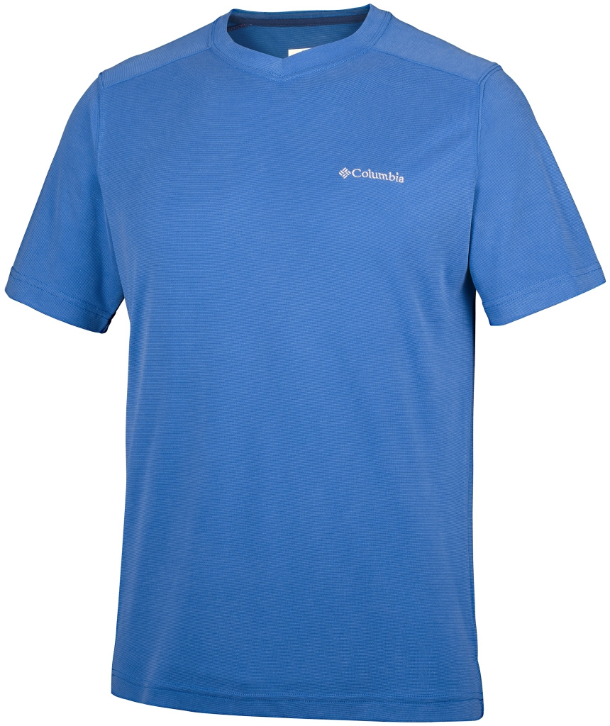 Columbia Sun Ridge Novelty Short Sleeve V Super Blue-30