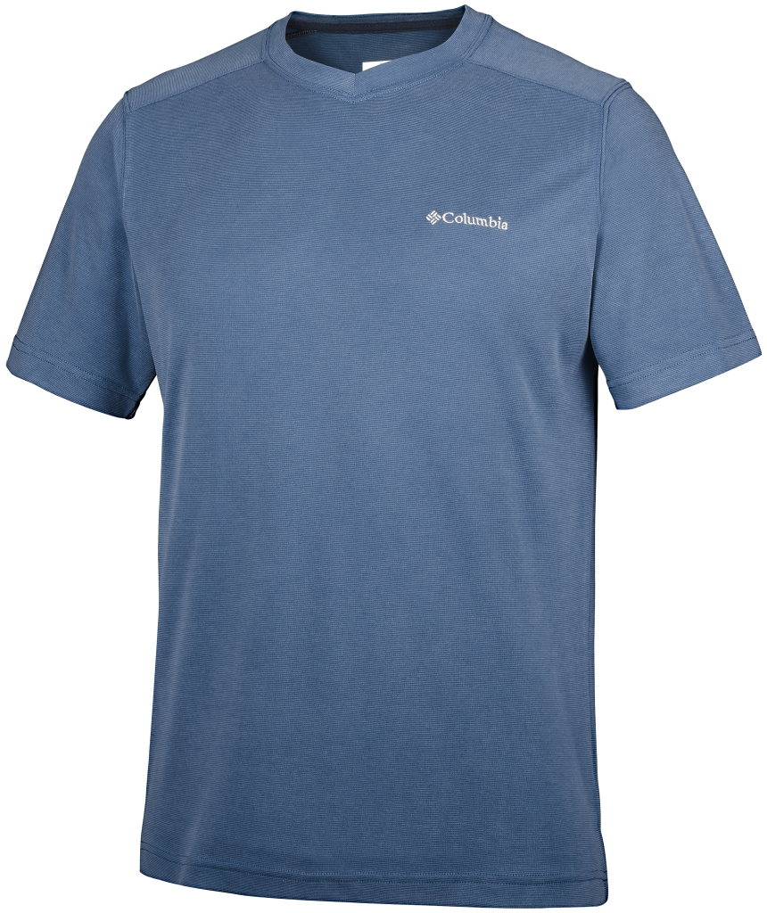 Columbia Sun Ridge Novelty Short Sleeve V Night Tide-30