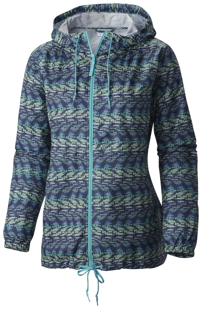 Columbia Flash Forward Printed Windbreaker Miami Matrix Print-30