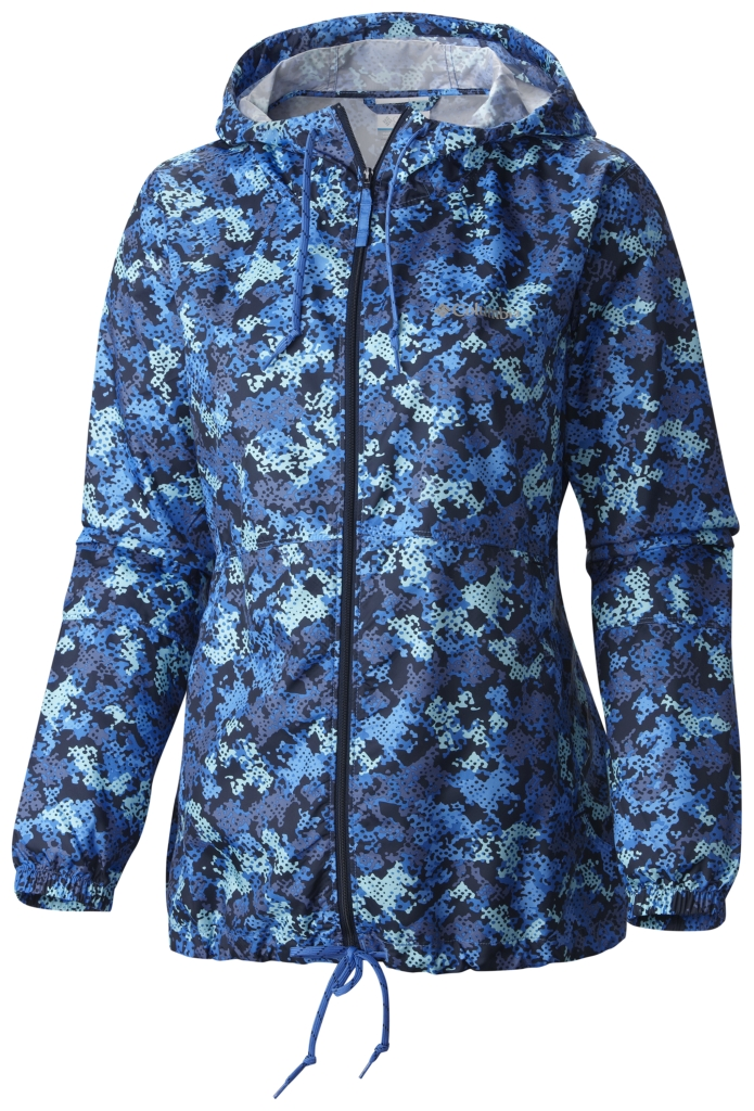 Columbia Flash Forward Printed Windbreaker Stormy Blue Print-30
