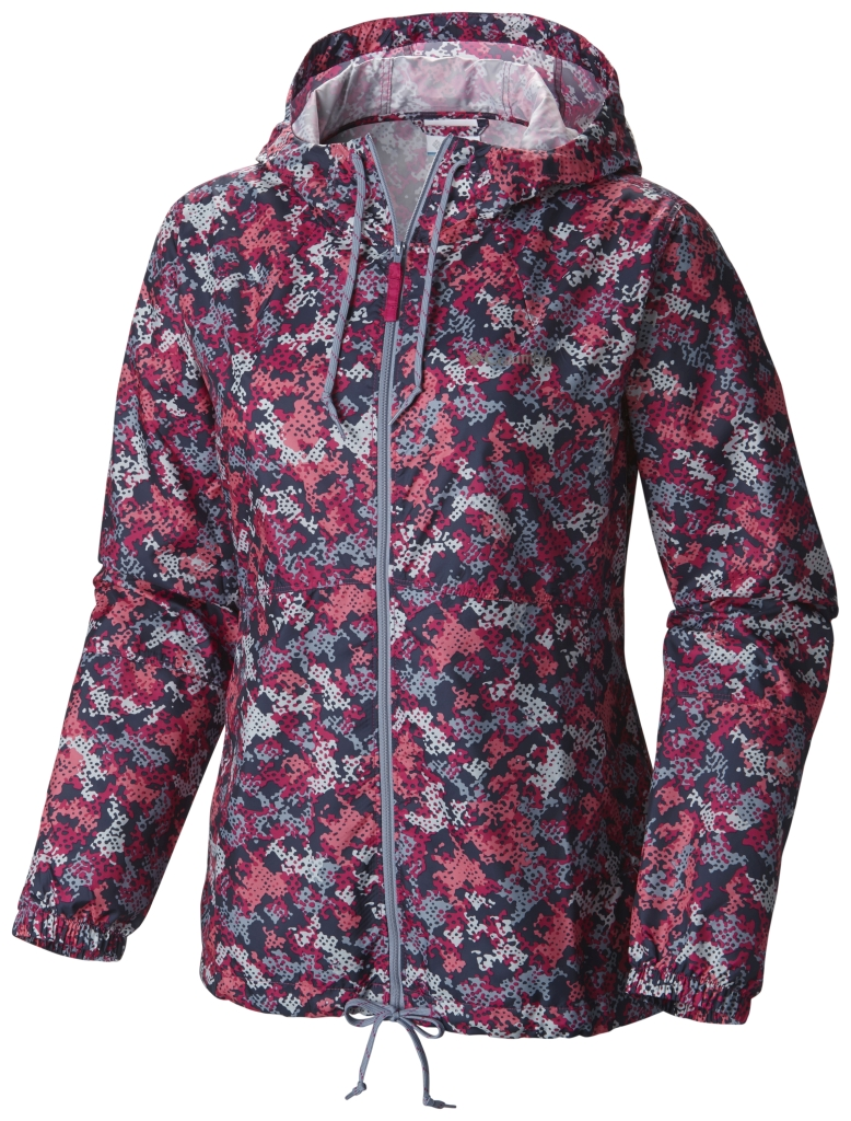 Columbia Flash Forward Printed Windbreaker Haute Pink Print-30