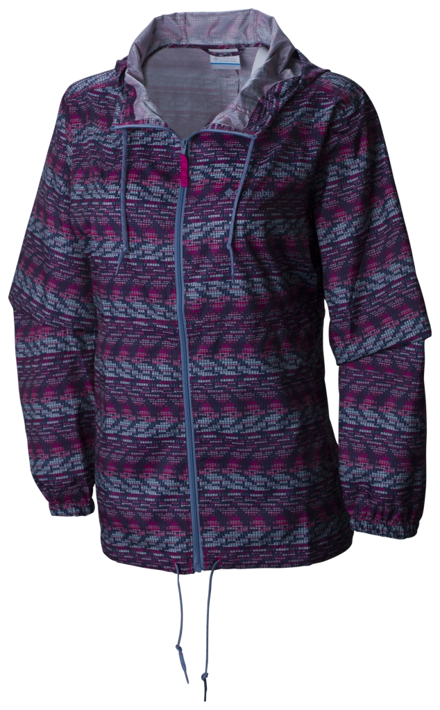 Columbia Flash Forward Printed Windbreaker Haute Pink Matrix Print-30