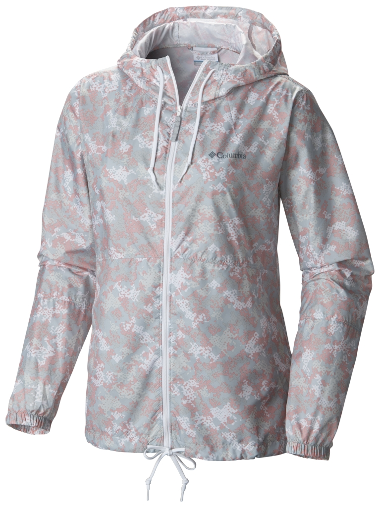 Columbia Flash Forward Printed Windbreaker Vintage Pink Print-30